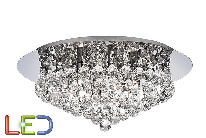LED Hanna 6 - Lámpara de techo (cromo pulido Bola de cristal ...