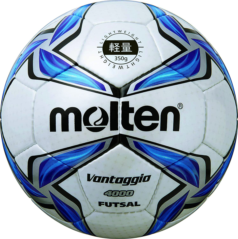 Molten ballon de football pour foot en salle blanc/bleu/argent - 4/f9V4000–l F9V4000-L