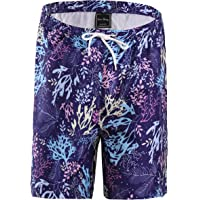 FANHANG Boys Girls UPF 50+ Active Printed Quick Dry Swim and Workout Board Beach Short
