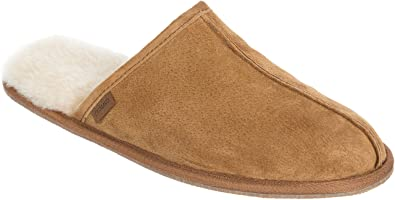 2009dc3ed38 Men's Classic Shearling-Lined Scuff Slippers