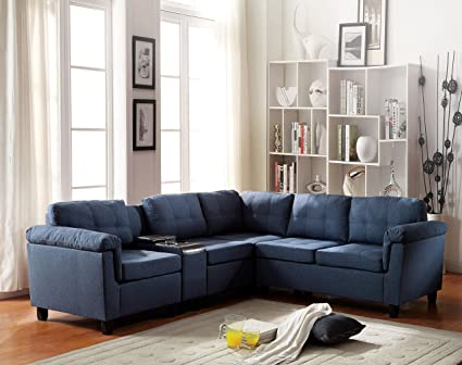 amazon com acme furniture 51525 cleavon reversible sectional sofa rh amazon com acme saul sectional sofa acme milano sectional sofa