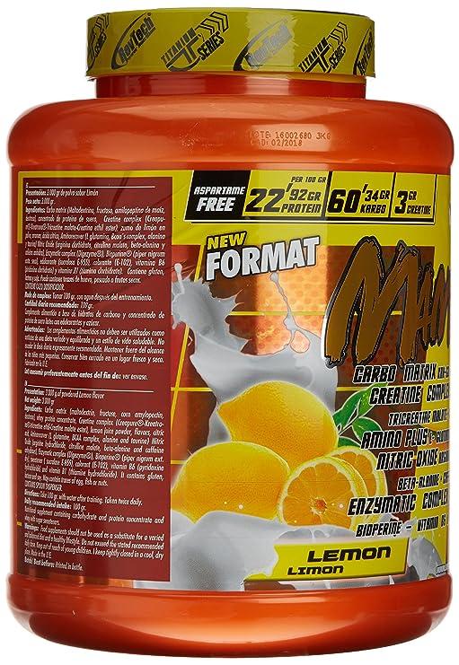 Revtech Mammuth Carbohidratos y Proteína, Sabor a Limón - 3000 gr: Amazon.es: Salud y cuidado personal