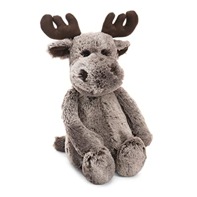 Jellycat Bashful Marty Moose Stuffed Animal, Medium, 12 inches: Toys & Games