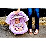 Carseat Canopy - The Whole Caboodle 5PC set - Baby Infant Car Seat Cover with complete matching set of accessories (Belle)