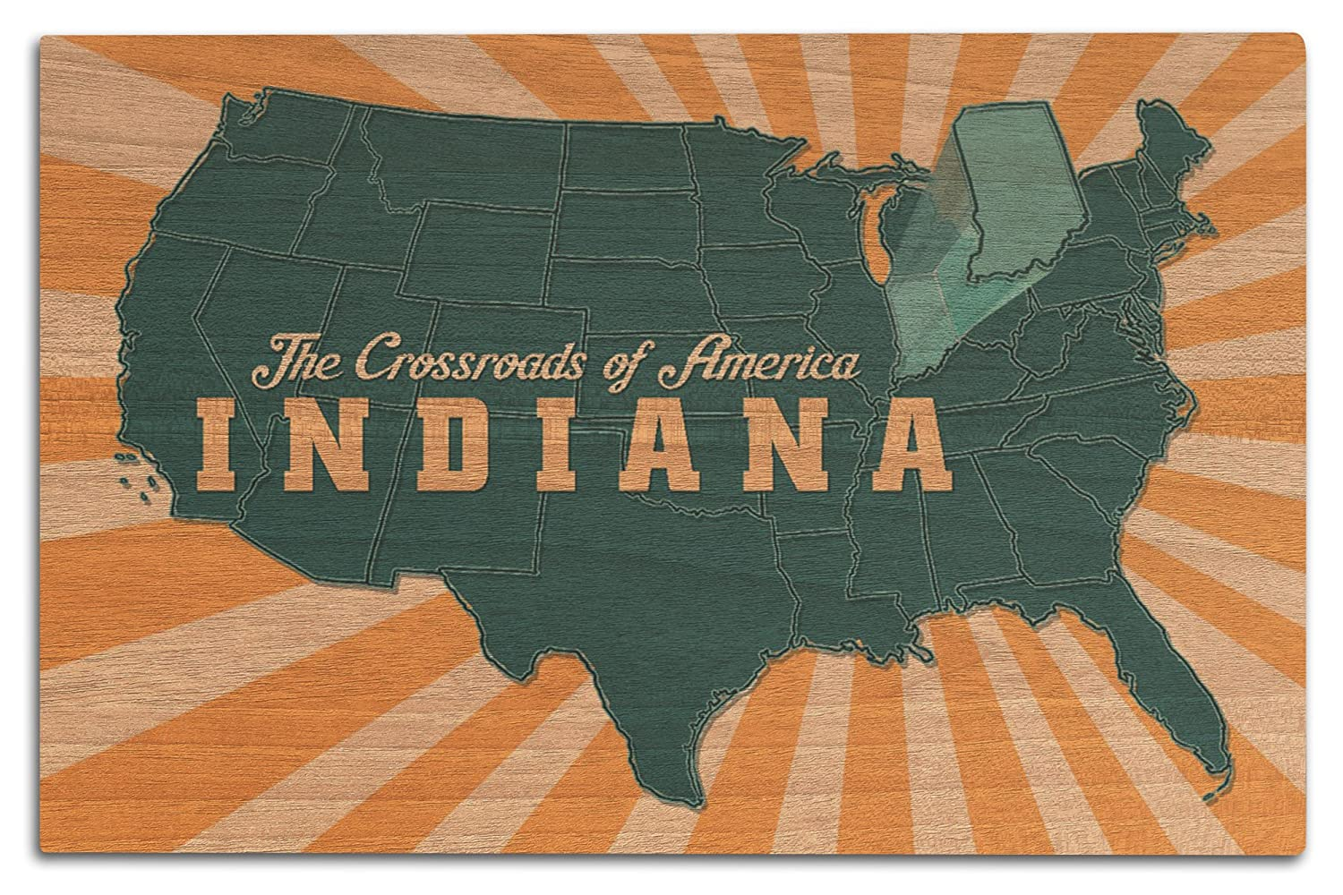 Amazon.com: Lantern Press Indiana - The Crossroads of ... on stereotypes of states in america, on a map of stereotypes america, stereotypical america,