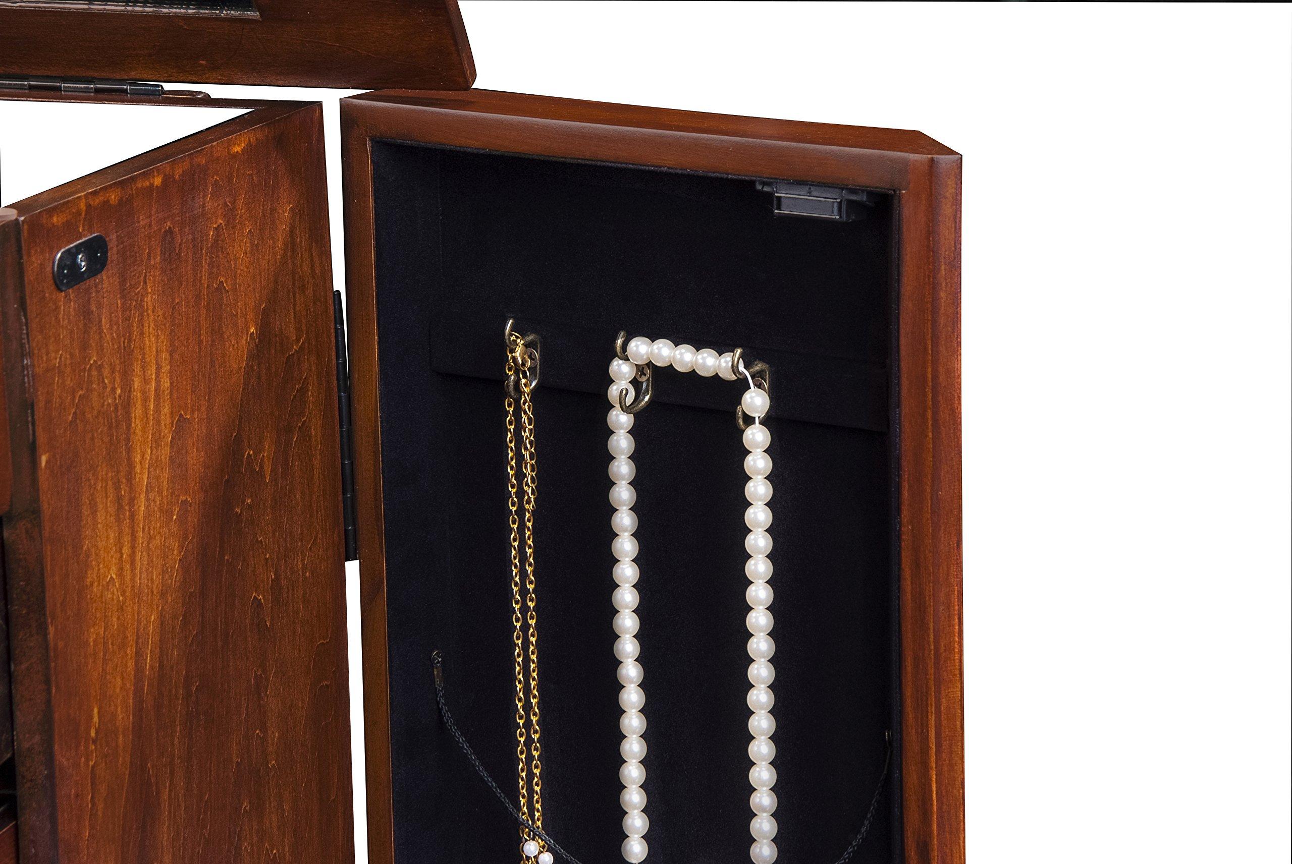 CTE 5 Drawers Jewelry Armoire - Coffee