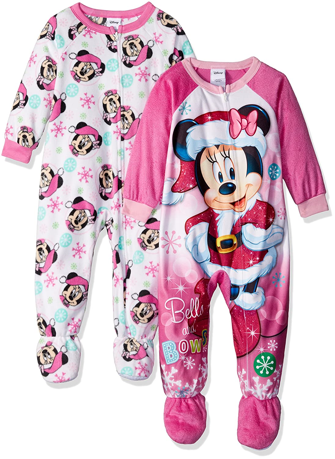 Disney girls Minnie Mouse 2-pack Fleece Blanket Sleeper Blanket Sleeper 21MW350TBFDZ
