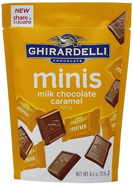 Ghirardelli Minis Pouch, Milk Chocolate Caramel Filling, 4.6 oz.