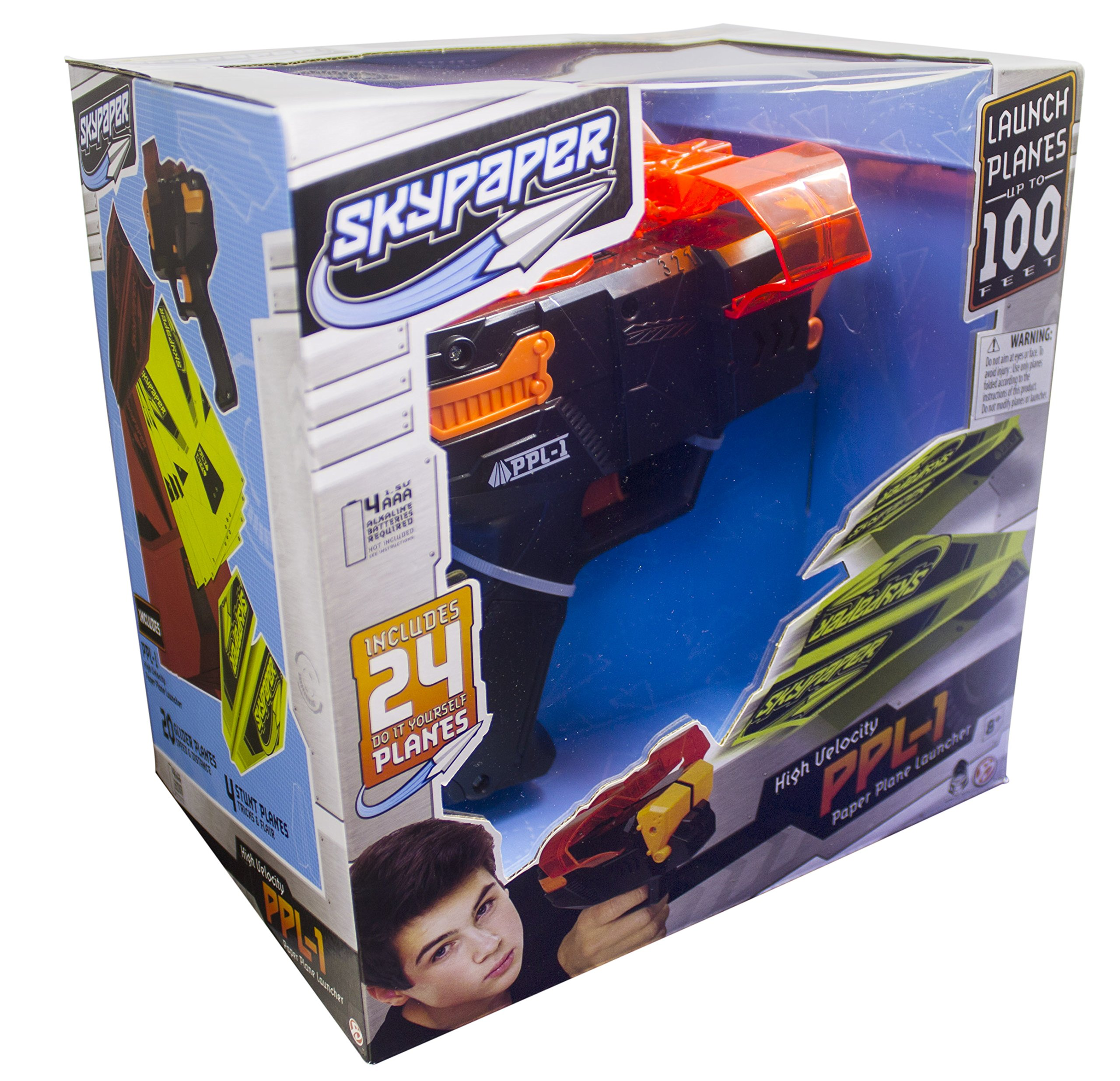 SkyPaper Paper Plane Launcher - Stealth Black by The Bridge Direct (Image #2)