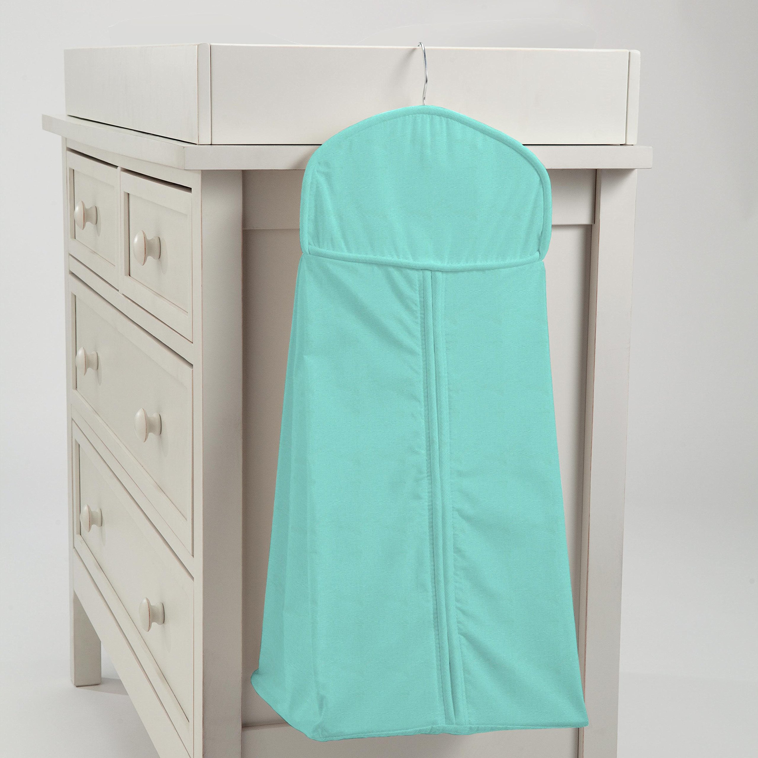 Carousel Designs Solid Teal Diaper Stacker