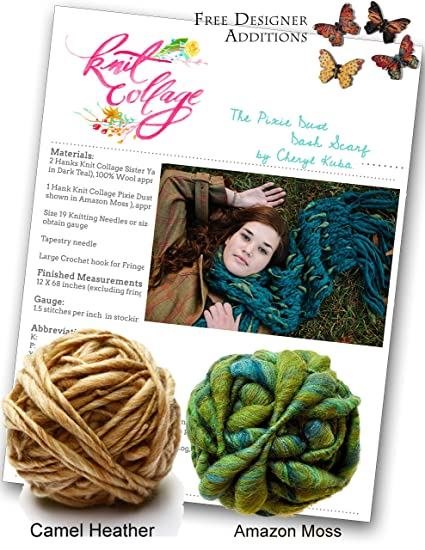 Amazon Com Knitting Kit Bulky Dash Scarf From Knit Collage Camel