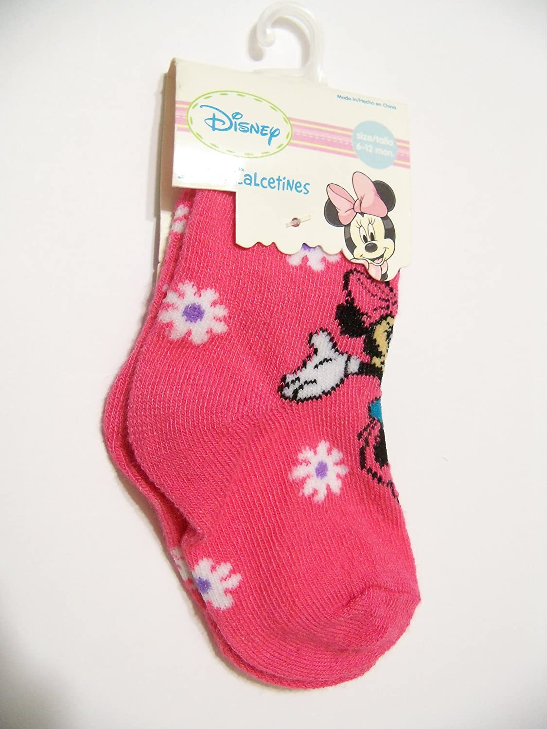 Amazon.com: Disney Minnie Mouse Socks ~ 6-12 Months (Skipping Amongst the Flowers): Baby