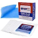 TCP Global - Pure Blue Superior Tack Cloths - Tack Rags (Box of 12) - Automotive Car Painters Professional Grade - Removes Du