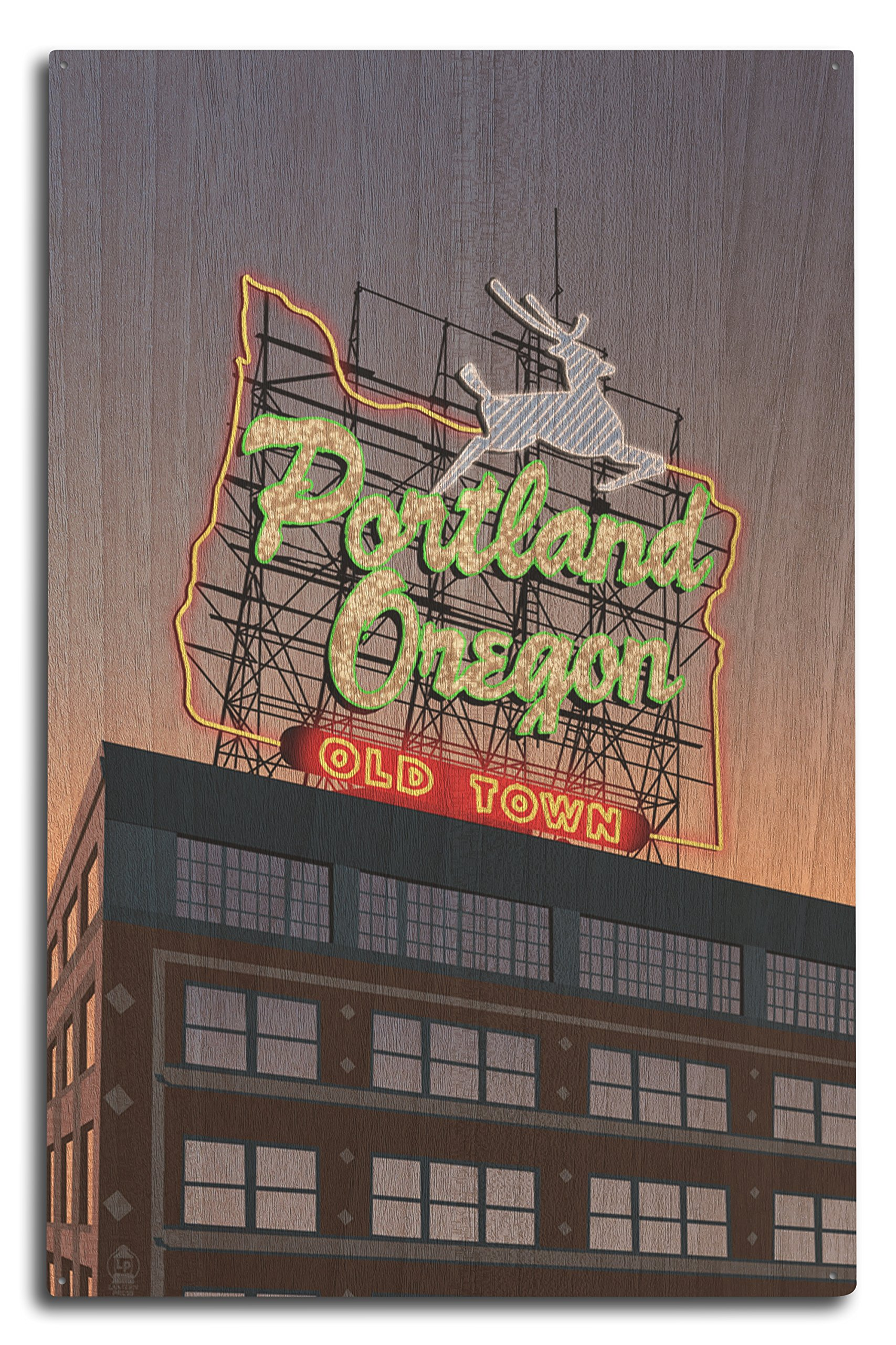 Portland, Oregon - Made in Oregon Sign (10x15 Wood Wall Sign, Wall Decor Ready to Hang) by Lantern Press (Image #1)