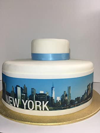 Edible Decor Sheet New York City Skyline Border Ribbon