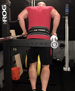 """Rip Toned Dip Belt By 6/"""" Weight Lifting Pull Up With 32/"""" Heavy Duty Steel..."""