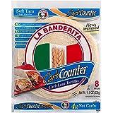 "La Banderita® Carb Counter   Keto Friendly   Low Carb   8"" Flour Tortillas   8 Count 11.9oz.   4 Pack Case."