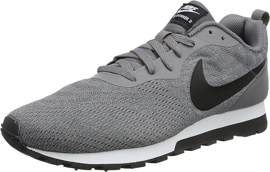 9ca08d011f Nike Herren MD Runner 2 Eng Sneaker Grau (Gunsmoke Black vast Grey White