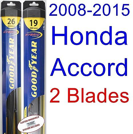 2008 2015 Honda Accord Replacement Wiper Blade Set/Kit (Set Of 2 Blades