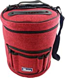 BEST KNITTING BAG FOR YARN STORAGE. Portable, Light and Easy to Carry- enjoy knitting/crocheting anywhere. Pockets for Accessories and Slits on Top to Protect Yarn and Prevent Tangling.