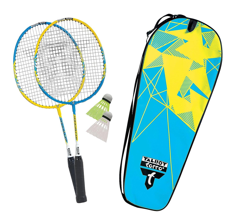 TALBOT TORRO Attacker Set of Juniors 2 shortened Rackets 53cm 2 Shuttles in carrybag Kids Badminton Set