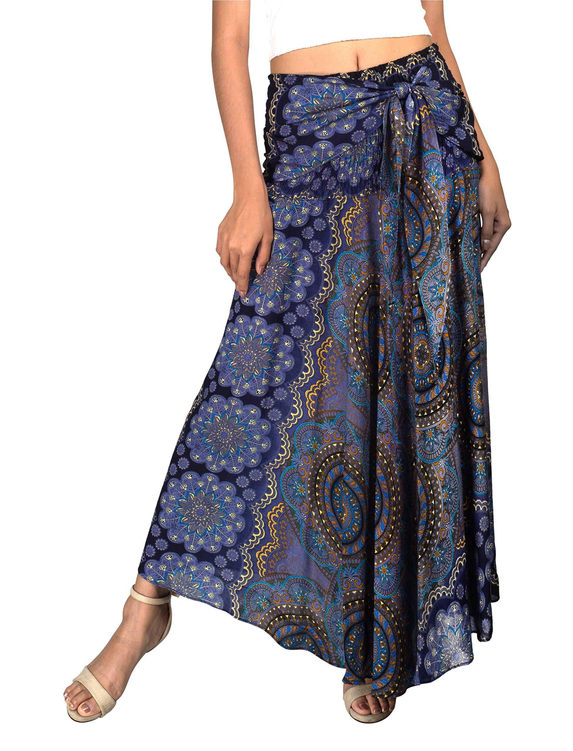 Joop Joop Maxi Bohemian Loose Flowing Yoga Travel Beach Festival Lounge Skirt and Dress