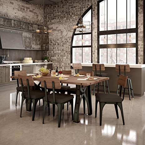 Bon Amisco Symmetry Metal Chairs And Sierra Table 72u0026quot;, Dining Set