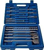 Silverline 196570 Coffret 15 pièces de forets et burins à maçonnerie SDS-Plus