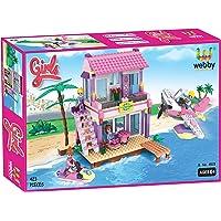 Webby Dream Girls Beach Villa Building Set , Multi Color (423 Count)