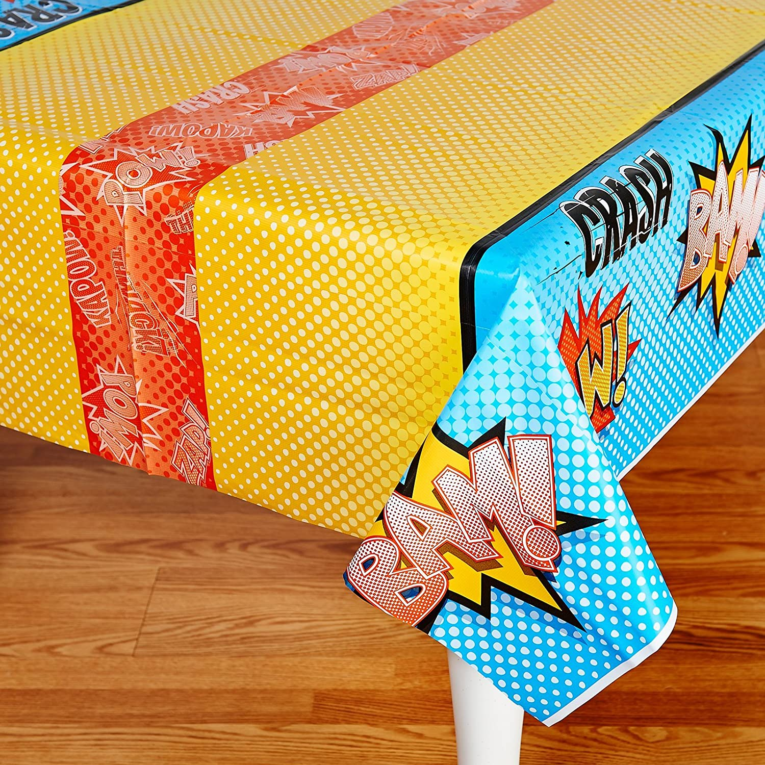 Amazon.com: Superhero Comics Party Supplies   Plastic Table Cover: Toys U0026  Games