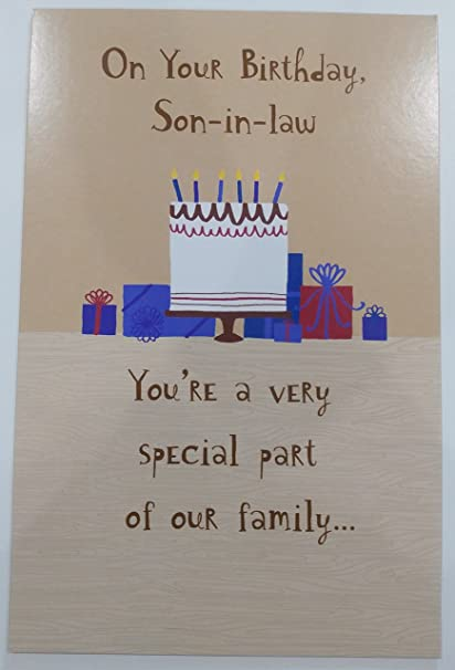 Amazon Happy Birthday Son In Law Greeting Card Special Part