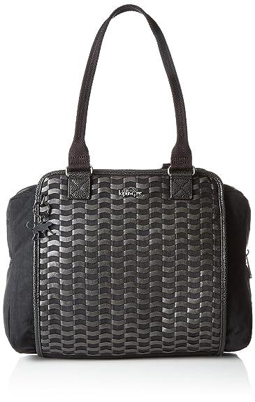 Kipling Faye Fever, Sacs Portés Main Femme, (G49 Weaving Black), 36x29.5x14.5 cm (B x H x T)