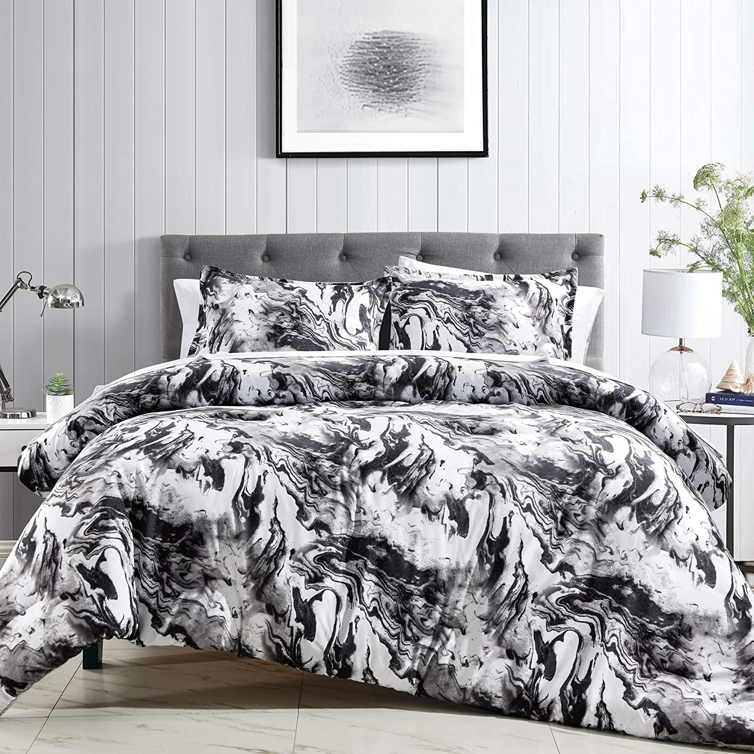 Modern Marble Pattern Queen New product! New type Size Comforter Bed - Max 45% OFF for Set