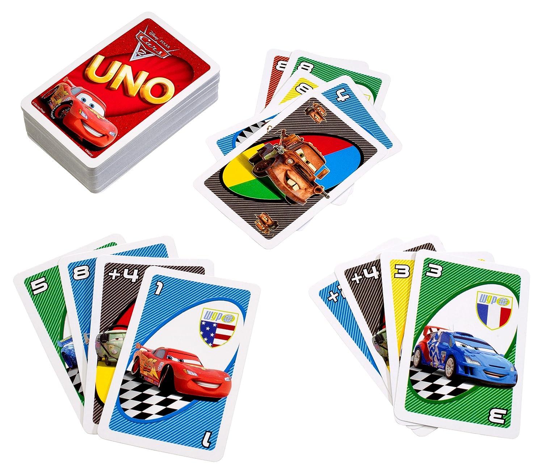 Pixar CARS 2 Movie UNO Card Game Mattel Gmbh T8230 M03P25 Disney