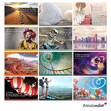 2x 12 Postkarten Mit Spruchen I Dv 239 I Din A6 I Spruch Karten Set