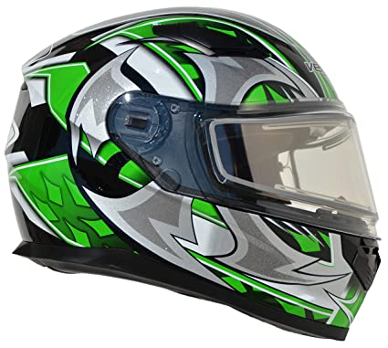 cfdc4735 Amazon.com: Vega Helmets Ultra Electric Snow Unisex-Adult Full Face  Snowmobile Helmet with Heated Shield Green Shuriken Graphic Large:  Automotive