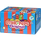 Otter Pops Ice Pops – Gluten and Fat Free Ice Pops, Delicious Frozen Treats Include Strawberry, Blue Raspberry, Grape, Lemon-Lime, Punch and Orange Flavors, 100 Count of 1 oz. Pops