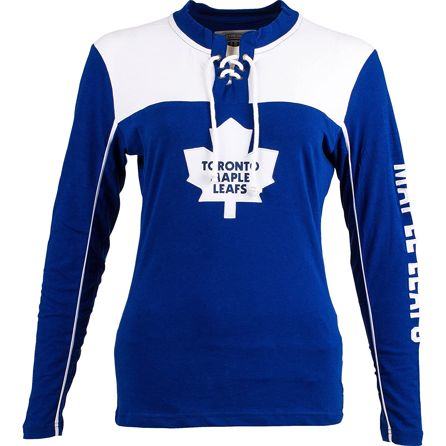 Toronto Maple Leafs Women's Visp Long Sleeve Lace Up Top Old Time Hockey