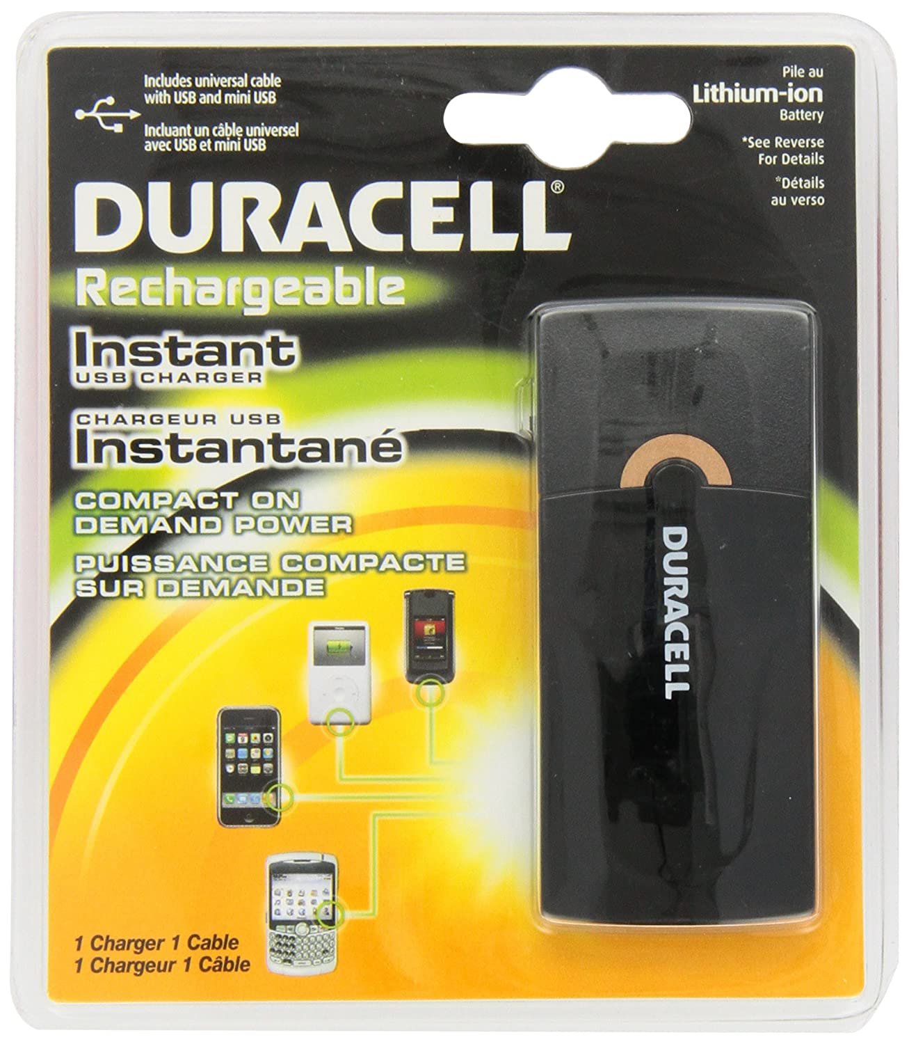 Duracell Rechargeable Instant USB Charger