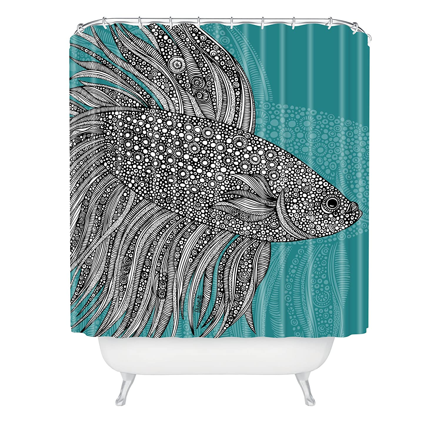Amazon Deny Designs Valentina Ramos Beta Fish Shower Curtain 69 X 72 Home Kitchen