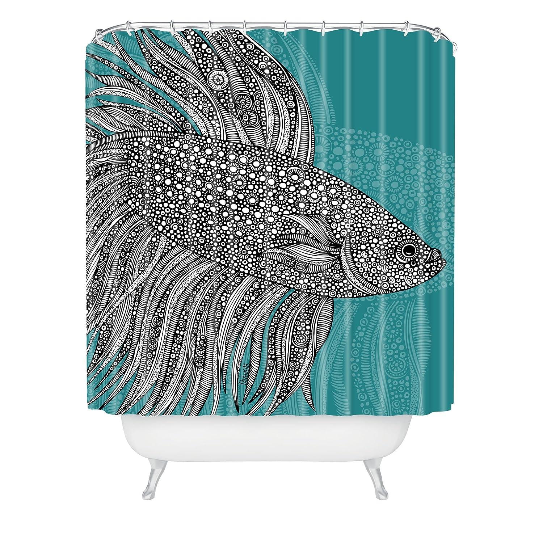 Deny Designs Valentina Ramos Beta Fish Shower Curtain, 69 x 72