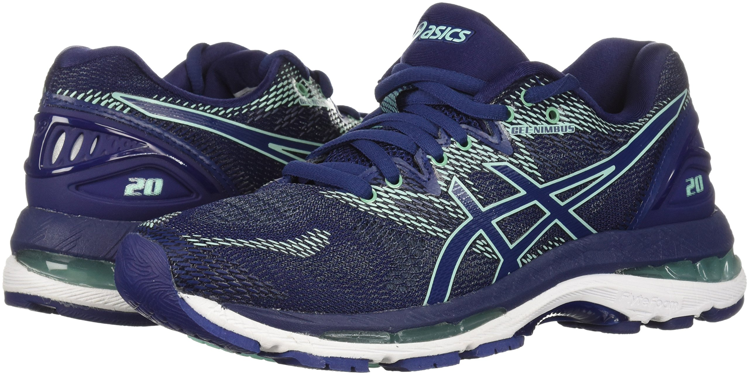 ASICS Women's Gel-Nimbus 20 Running Shoe, indigo blue/indigo blue/opal green, 12 D US by ASICS (Image #5)