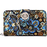 Malirona Women's Canvas Wallet Bohemian Style Purse Clutch Bag Multi Card Case Wallet with Zipper Pocket
