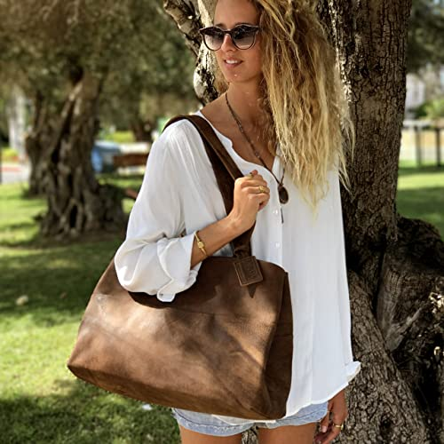 DISTRESSED Gray leather tote bag Designer handmade with LOVE! Sale!! GRAY Leather Bag