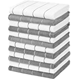 Gryeer 12 Pack Microfiber Kitchen Towels, Super Absorbent, Soft, and Lint Free Dish Towels, Stripe Designed, 18 x 26 Inch, Gr