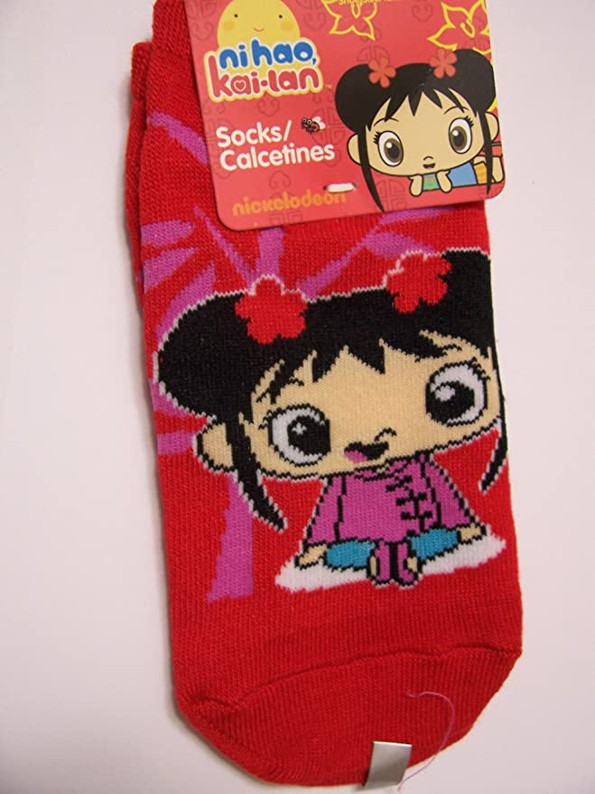 Amazon.com: Ni Hao Kai-lan Kid 3 Sock ~ Size 4-6 Shoe 7-10 (Hands, Character Sections, Red): Other Products: Clothing
