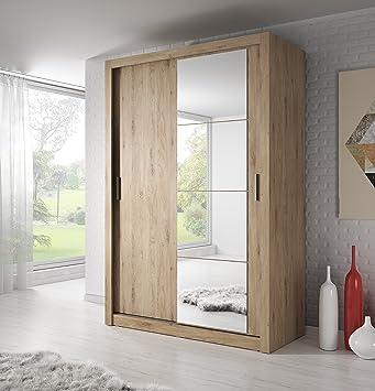 Brand New Modern Bedroom Mirror Sliding Door Wardrobe Arti 4 In Oak Shetland 150cm Sold By Arthauss Co Uk Kitchen Home