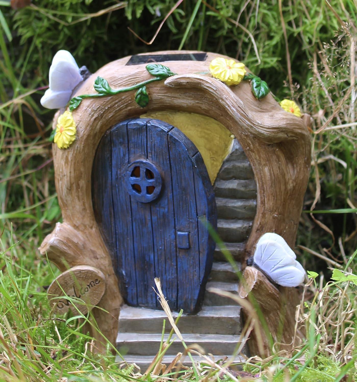 Porta fatata porta ad energia solare che cambia colore decorazione da giardino