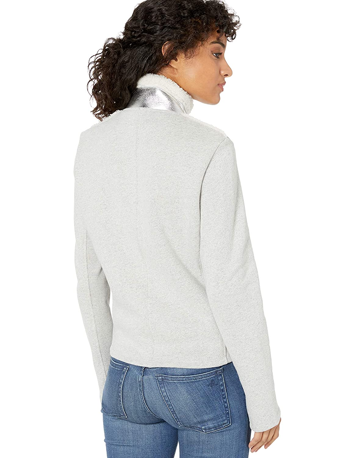 Majestic Filatures Womens Jacket with Metallic Front Pockets