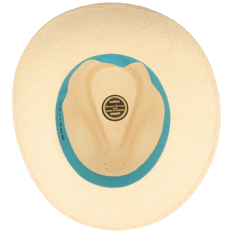 7,5 cm breite Krempe ORIGINAL Panama-Hut Lederband /& Bruchschutz -Wei/ß Traditionell Handgeflochten in Brisa 4 Flechtung Stroh-Hut Sommer-Hut aus Ecuador